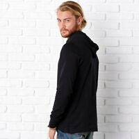 Bella+Canvas Unisex Fit Adults Jersey Long Sleeve Plain Hoodie Sweatshirt New
