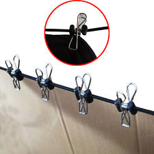 Upgrade Travel Clothesline Clothes Line Pegless Washing Camping w/10 Clothespins