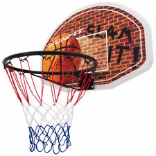 Wall Mounted Fan Backboard With Basketball Hoop and Rim Outdoor Indoor Sports