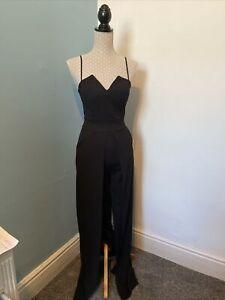 Black Trouser Jump Suit SIZE 8 Ladies Party Dress. Little Black Dress Party NYE