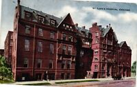 Vintage Postcard - 1910 St Luke's Hospital Building Chicago Illinois IL  #3736