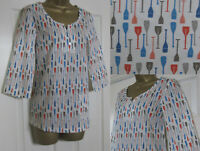 NEW Seasalt Ladies Picture Hook Relaxed Top Blouse Shirt Summer Paddle Size 8-18