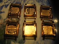 Unused vintage gold plated fancy watch cases 14k/20mk,6 pieces,not scrap