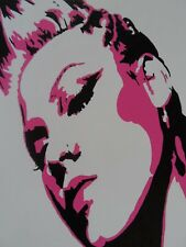 P!NK Alicia Moore PINK Painted Canvas Wall Hangings / Wall Art