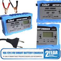 KFZ Batterieladegerät 12V 24V für PKW LKW Motorrad Ladegerät 200Ah 10A 7A 6A DE