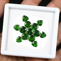 13 Pcs Natural Chrome Diopside 7mm-8mm Vivid Green Deluxe Quality Gemstones Lot