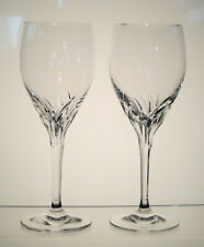"YVONNE NACHTMANN Germany Crystal White Wine Glasses 7 1/4"", SET of TWO, Signed"
