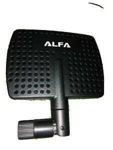 Alfa APA-M04 2.4HGz 7Dbi Aumentador RP-SMA Panel High-Gain Giratorio Antena