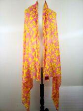 Erfurt Scarf Wrap Shawl XL Modal Anthropologie Summer Butterfly Pink Yellow