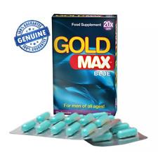 Stimulant Sexuel / Aphrodisiaque pour Hommes GoldMax Blue 20 gélules / GOLD MAX