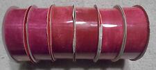 6 Bolts of Sheer Hot Pink Ribbon ( R-46 )