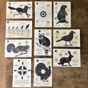 A Set Of 10 Original Hunting Targets, J.C Higgins & Roebuck-1940 USA.