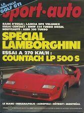 SPORT AUTO n°258 07/1983 GP CANADA 24h du MANS COUNTACH AVEC ENCART ET POSTER