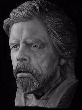 Star Wars Mark Hamill bust made from life mask Force Awakens Last Jedi Luke B&W