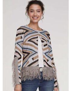 Heine Fringed Cardigan Size 16