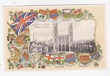 Montreal,Quebec,Canada,Notre Dame Church,Embossed,Crests/Shields/Flags,Used,1907