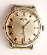Vintage Gents Tasman 17 Jewels Swiss Wrist Watch (Needs Work)