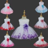 Toddler Girls Dresses Party Tutu Dress Flower Girl Dress Princess Rose Bow Gown