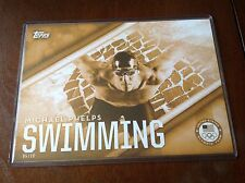 2016 Topps Jumbo 5x7 MICHAEL PHELPS Ser#'d 5/10 Olympics Large Card Swimming