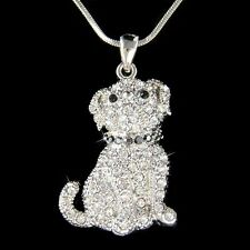 French Bulldog Bull Mastiff Pug Dog made with Swarovski Crystal Jewelry Necklace