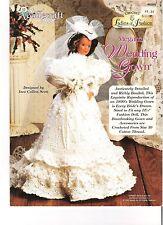 Ladies of Fashion Megan's Wedding Gown Needlecraft Shop Crochet Leaflet 952502