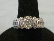 14k WG 1.15 ct Diamond & Moissanite Designer IKS Wedding/Cocktail Ring/Band
