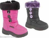 Little girls fur lined boots girls snow style moon boots   size 6 7 8 9 10 11 12