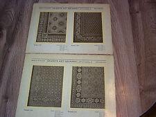 13 Oscar B Wangner Philadelphia Persian Carpet Pattern Sheets c1930