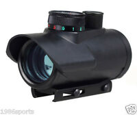 """Cow Scopes 1x30 Red/Green/Blue Dot rifle Scope Sight 3/8"""" integrated rail mount*"""