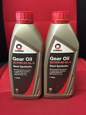 2 X LTR 75w90 GEARBOX OIL 75-90 GL4 OIL 1LT COMMA SX75W-90SEMI SYN GEARBOX OIL