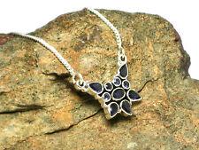 Collar de piedras preciosas de iolite Plata 925-en Caja De Regalo