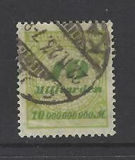 GERMANY REPUBLIC # 297 Used INFLATION ISSUE