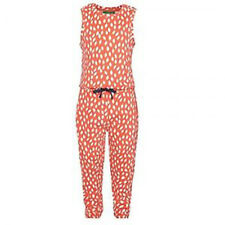 John Lewis Red Leaf Spotted 100% Organic Cotton Jumpsuit Age 3 Brand New RRP £22