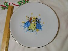 HUTSCHENREUTHER PORCELAIN 1814 HOHENBERG GERMAN CHRISTMAS PLATE MUSICAL ANGELS