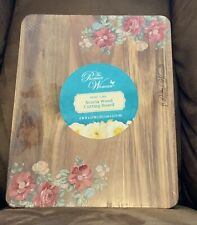 Pioneer Woman 8 inch x 10 inch Nonslip Reversible Cutting Board -Vintage Floral