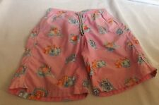 VILEBREQUIN PINK SWIMING SHORTS FRUIT ICE CUBES PATTERNED AGE 10