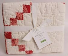 NWT Pottery Barn Andover Patchwork euro sham, Christmas, red quilted
