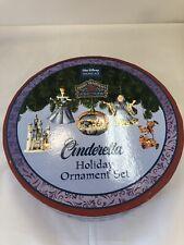 Jim Shore Disney Traditions - Cinderella Holiday Ornament Set - Christmas - NIB