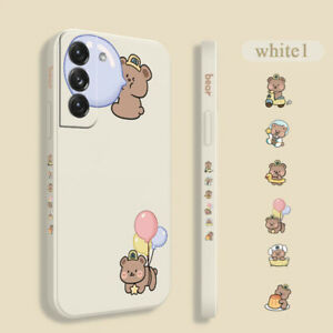 Cute Cartoon Bear Case Cover For Samsung Galaxy S21 S20 FE S10 Note 20 10 Ultra