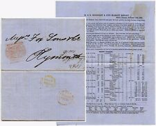 GB 1853 NEWSPAPER STAMP PRINTED PRICES CURRENT KEIGHLEY HULL + PLYMOUTH YELLOW