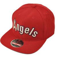 MLB Los Angeles American Needle Red Snapback Hat Cap Constructed Flat Bill