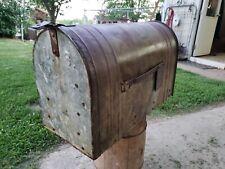 Antique Vintage Large Jumbo Metal Usda Rural Mailbox Country