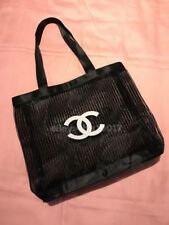 New Auth Chanel Beauté Black & White Mesh Makeup Tote Bag VIP Gift
