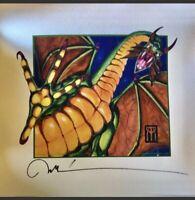 MTG Magic Gathering Shivan Dragon Signed Melissa Benson Artist Print Art WOW😍
