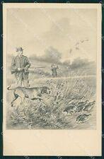 Hunting dog postcard cartolina QT5950