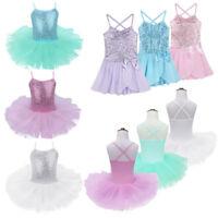 Kid Girl Ballet Dance Dress Gymnastics Leotard Sequined Ballerina Tutu Dancewear