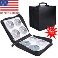 520 Disc CD DVD Organizer Holder Storage Case Bag Wallet Album Media Video 8R