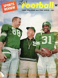 1958 Sports Review Football magazine, Duffy Daugherty Michigan State, Poor