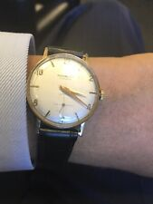 Richmond Vintage Mens 9ct Solid Gold Serviced watch NR Rare $225 WOW