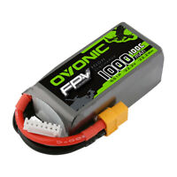OVONIC 100C 22.2V 1000mAh 6S LiPo Battery with XT60 plug for FPV Freestyle Drone